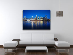 London skyscrapers reflected Canvas Print or Poster - Canvas Art Rocks - 4