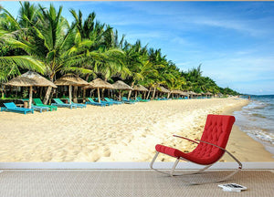 Long Beach Phu Quoc Wall Mural Wallpaper - Canvas Art Rocks - 2