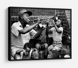 Louis Armstrong with kids HD Metal Print - Canvas Art Rocks - 6