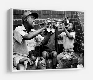 Louis Armstrong with kids HD Metal Print - Canvas Art Rocks - 7