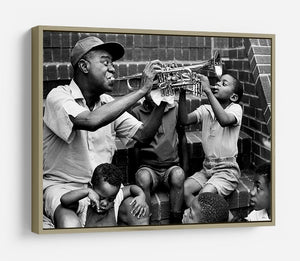 Louis Armstrong with kids HD Metal Print - Canvas Art Rocks - 8