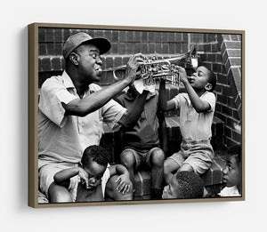 Louis Armstrong with kids HD Metal Print - Canvas Art Rocks - 10
