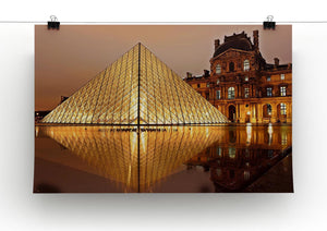 Louvre Museum Print - Canvas Art Rocks - 2