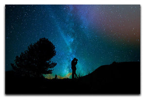 Lovers Sky Night Canvas Print - Canvas Art Rocks - 1