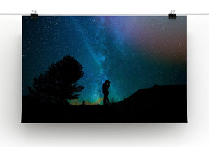 Lovers Sky Night Canvas Print - Canvas Art Rocks - 2