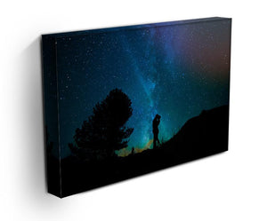 Lovers Sky Night Canvas Print - Canvas Art Rocks - 3