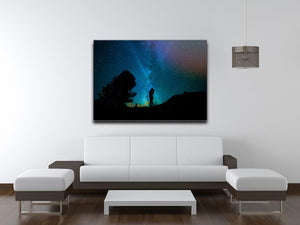 Lovers Sky Night Canvas Print - Canvas Art Rocks - 4