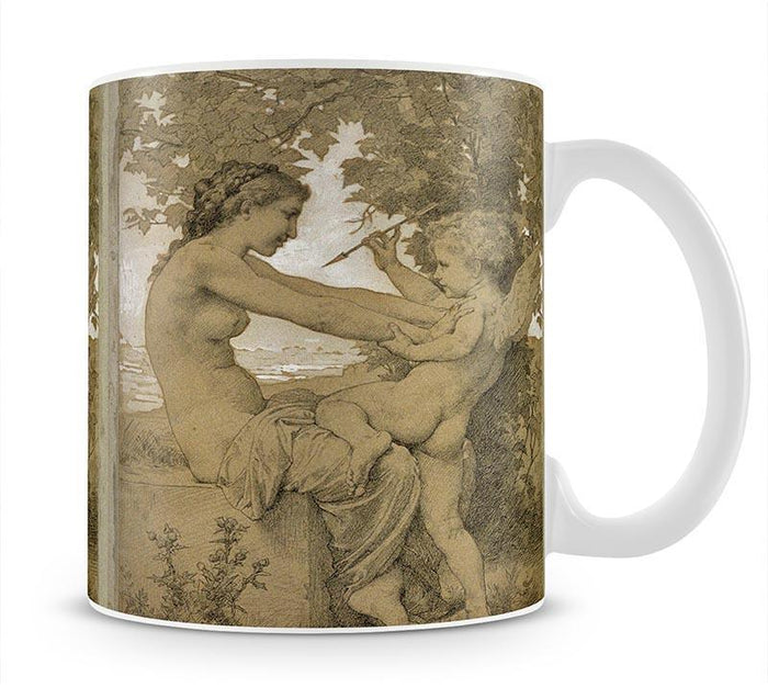 Loves Resistance By Bouguereau Mug