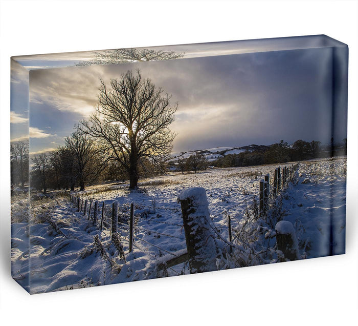 Low light on a winters day Acrylic Block