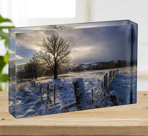 Low light on a winters day Acrylic Block - Canvas Art Rocks - 2