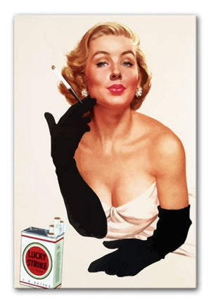 Lucky Strike Print - Canvas Art Rocks - 1