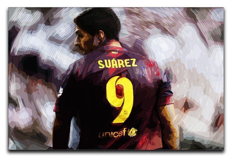 Luis Suarez Barcelona Canvas Print or Poster  - Canvas Art Rocks - 1
