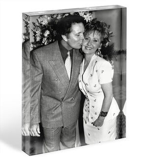 Lulu and Tom Jones Acrylic Block - Canvas Art Rocks - 1