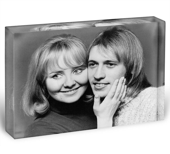 Lulu with Maurice Gibb of the Bee Gees Acrylic Block