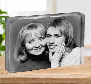 Lulu with Maurice Gibb of the Bee Gees Acrylic Block - Canvas Art Rocks - 2
