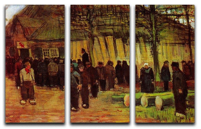 Lumber Sale by Van Gogh 3 Split Panel Canvas Print