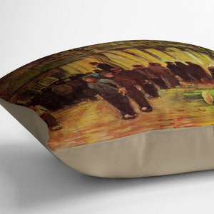 Lumber Sale by Van Gogh Throw Pillow