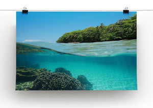 Lush tropical shore above waterline Canvas Print or Poster - Canvas Art Rocks - 2