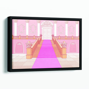 Luxury staircase in the magic palace Floating Framed Canvas