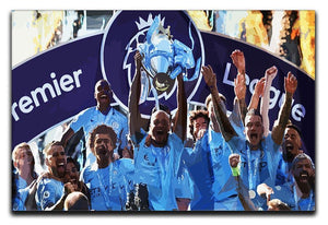 MANCHESTER CITY PREMIER LEAGUE WINNERS 2019 Canvas Print or Poster - Canvas Art Rocks - 1