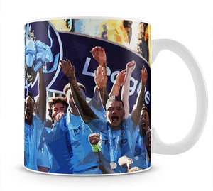 MANCHESTER CITY PREMIER LEAGUE WINNERS 2019 Mug - Canvas Art Rocks - 1