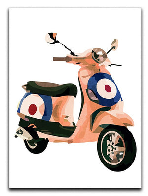 MOD Vespa Print - Canvas Art Rocks - 3