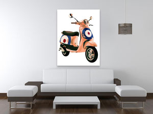 MOD Vespa Print - Canvas Art Rocks - 4