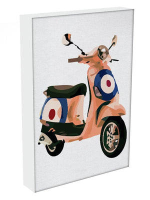 MOD Vespa Print - Canvas Art Rocks - 1