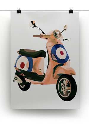 MOD Vespa Print - Canvas Art Rocks - 2
