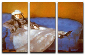 Madame Manet by Manet 3 Split Panel Canvas Print - Canvas Art Rocks - 1