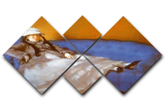 Madame Manet by Manet 4 Square Multi Panel Canvas