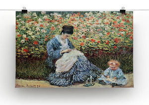 Madame Monet and child by Monet Canvas Print & Poster - Canvas Art Rocks - 2