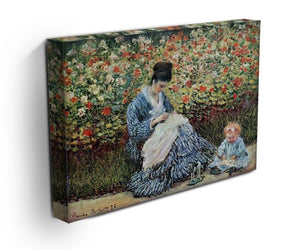 Madame Monet and child by Monet Canvas Print & Poster - Canvas Art Rocks - 3