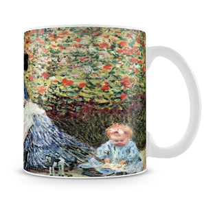 Madame Monet and child by Monet Mug - Canvas Art Rocks - 4