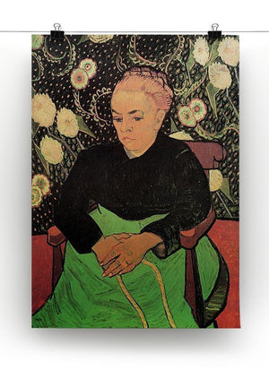 Madame Roulin Rocking the Cradle La Berceuse by Van Gogh Canvas Print & Poster - Canvas Art Rocks - 2
