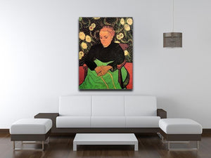 Madame Roulin Rocking the Cradle La Berceuse by Van Gogh Canvas Print & Poster - Canvas Art Rocks - 4