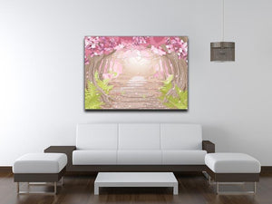 Magic spring forest Canvas Print or Poster - Canvas Art Rocks - 4