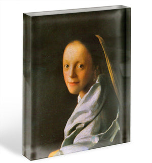 Maid by Vermeer Acrylic Block - Canvas Art Rocks - 1
