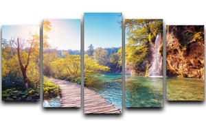 Majestic view on turquoise water 5 Split Panel Canvas  - Canvas Art Rocks - 1