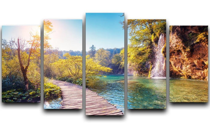 Majestic view on turquoise water 5 Split Panel Canvas