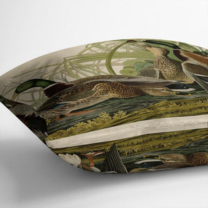 Mallard Duck by Audubon Throw Pillow