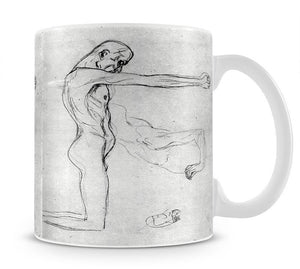 Man with with outstretched arms by Klimt Mug - Canvas Art Rocks - 1