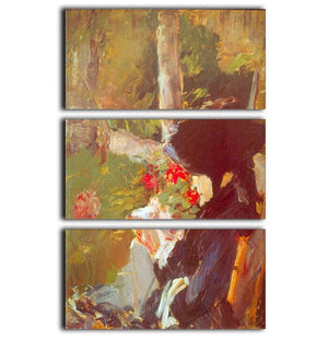 Manets Mother by Manet 3 Split Panel Canvas Print - Canvas Art Rocks - 1