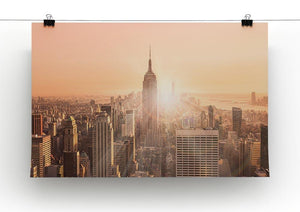 Manhattan downtown skyline with illuminated Empire State Building Canvas Print or Poster - Canvas Art Rocks - 2