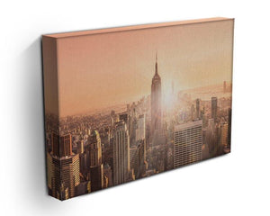 Manhattan downtown skyline with illuminated Empire State Building Canvas Print or Poster - Canvas Art Rocks - 3