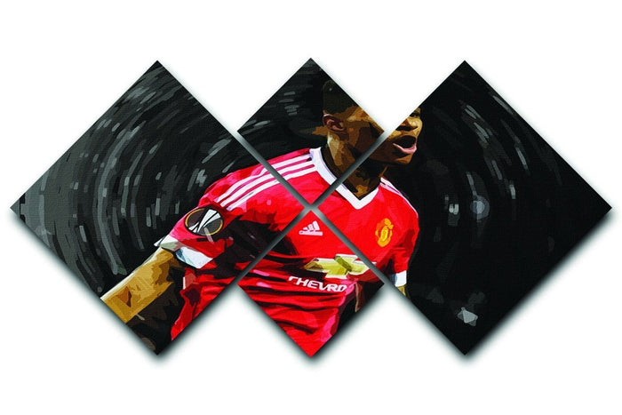 Marcus Rashford Manchester United 4 Square Multi Panel Canvas
