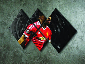 Marcus Rashford Manchester United 4 Square Multi Panel Canvas - Canvas Art Rocks - 2