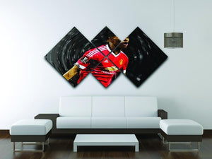 Marcus Rashford Manchester United 4 Square Multi Panel Canvas - Canvas Art Rocks - 3