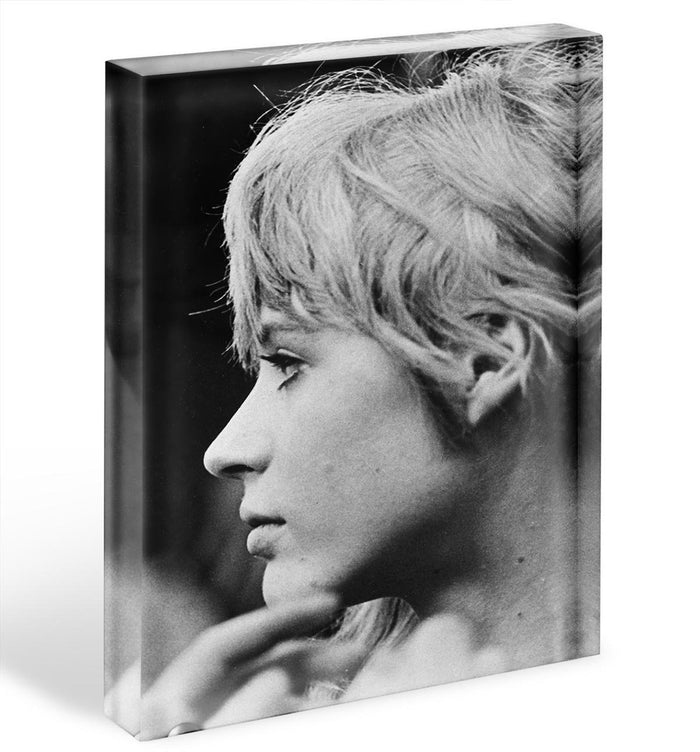 Marianne Faithfull in profile Acrylic Block