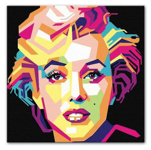 Marilyn Monroe Mosaic Print - Canvas Art Rocks - 2